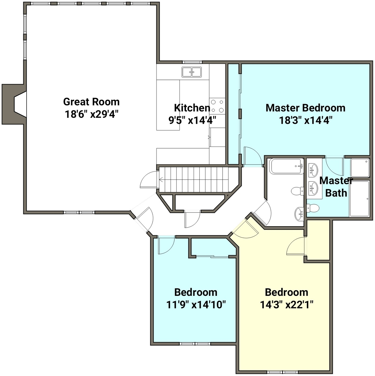 Floor Plan for Almost Heaven