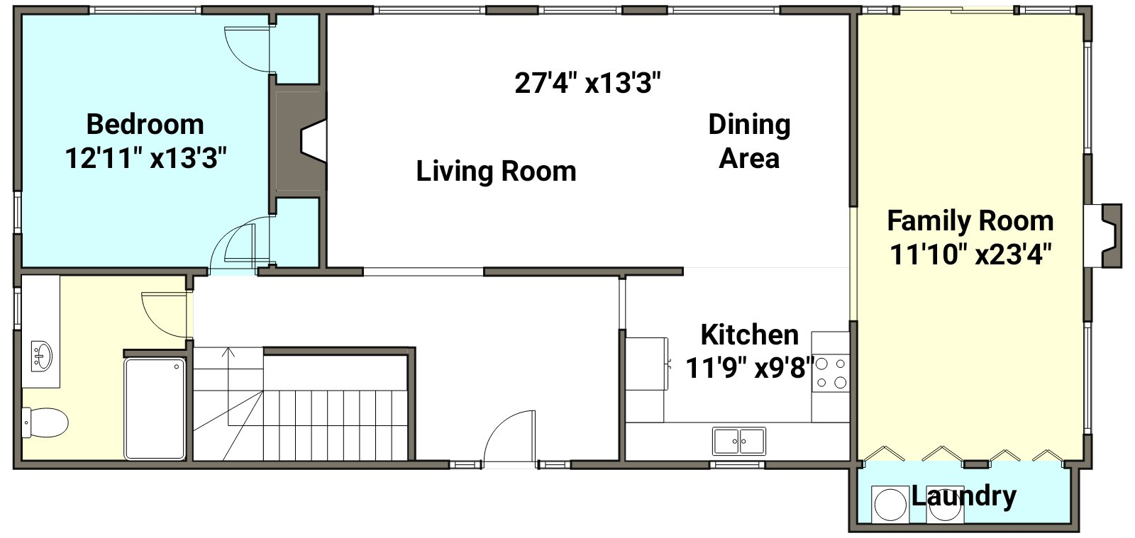 Floor Plan for Bass Cove - Great Views of the lake